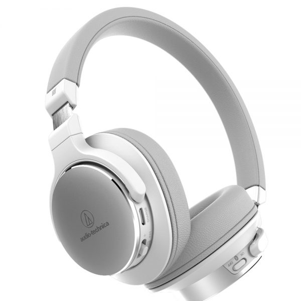 Audio-Technica ATH-SR5BT (White) - Angled