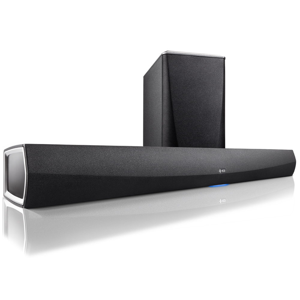 Denon HEOS Home Cinema Soundbar & Wireless Sub Woofer (Black) - Front