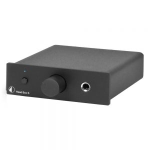 Pro-Ject Head Box S Headphone Pre-Amplifier (Black) - Angled