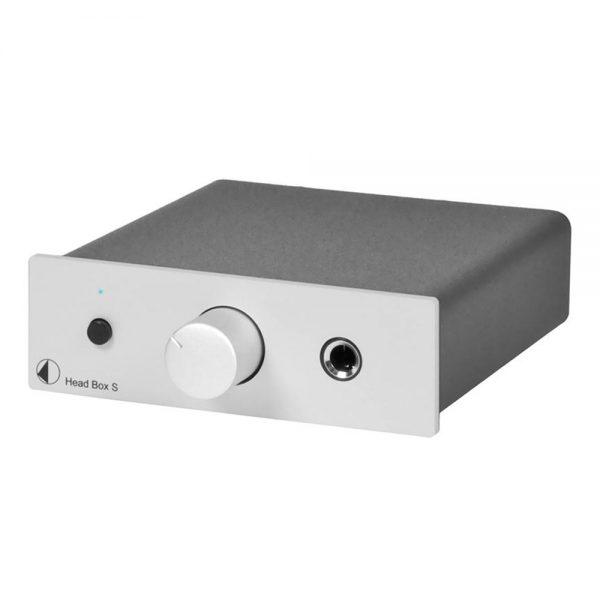 Pro-Ject Head Box S USB Headphone Pre-Amplifier (Silver) - Front