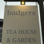 Badgers Tea House Sign