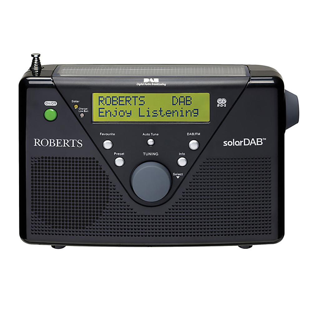 Roberts Radio Solardab 2 Solar Powered Portable Dab Radio