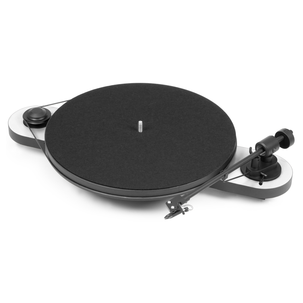 Pro-Ject Elemental Turntable (White) - Front