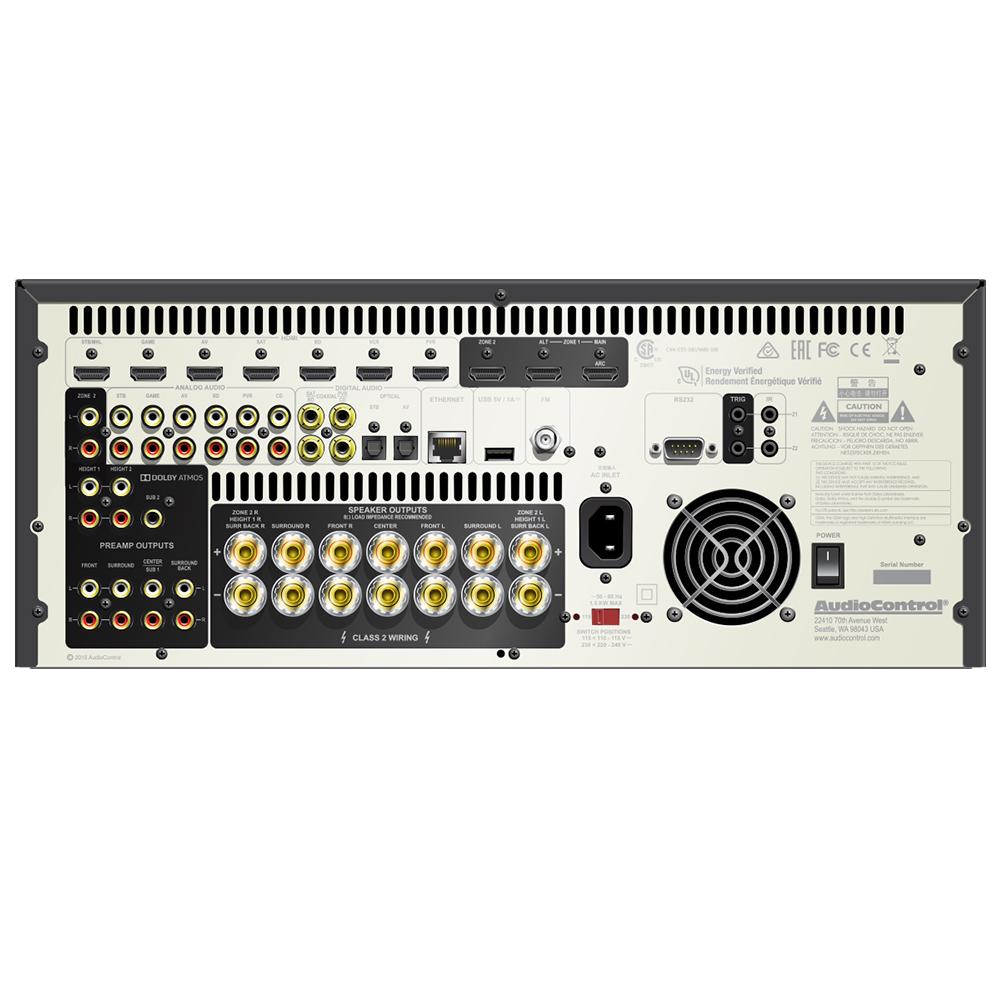 Audiocontrol Concert Avr 7 Av Receiver Norvett Electronics Class 2 Audio Wiring Black Back