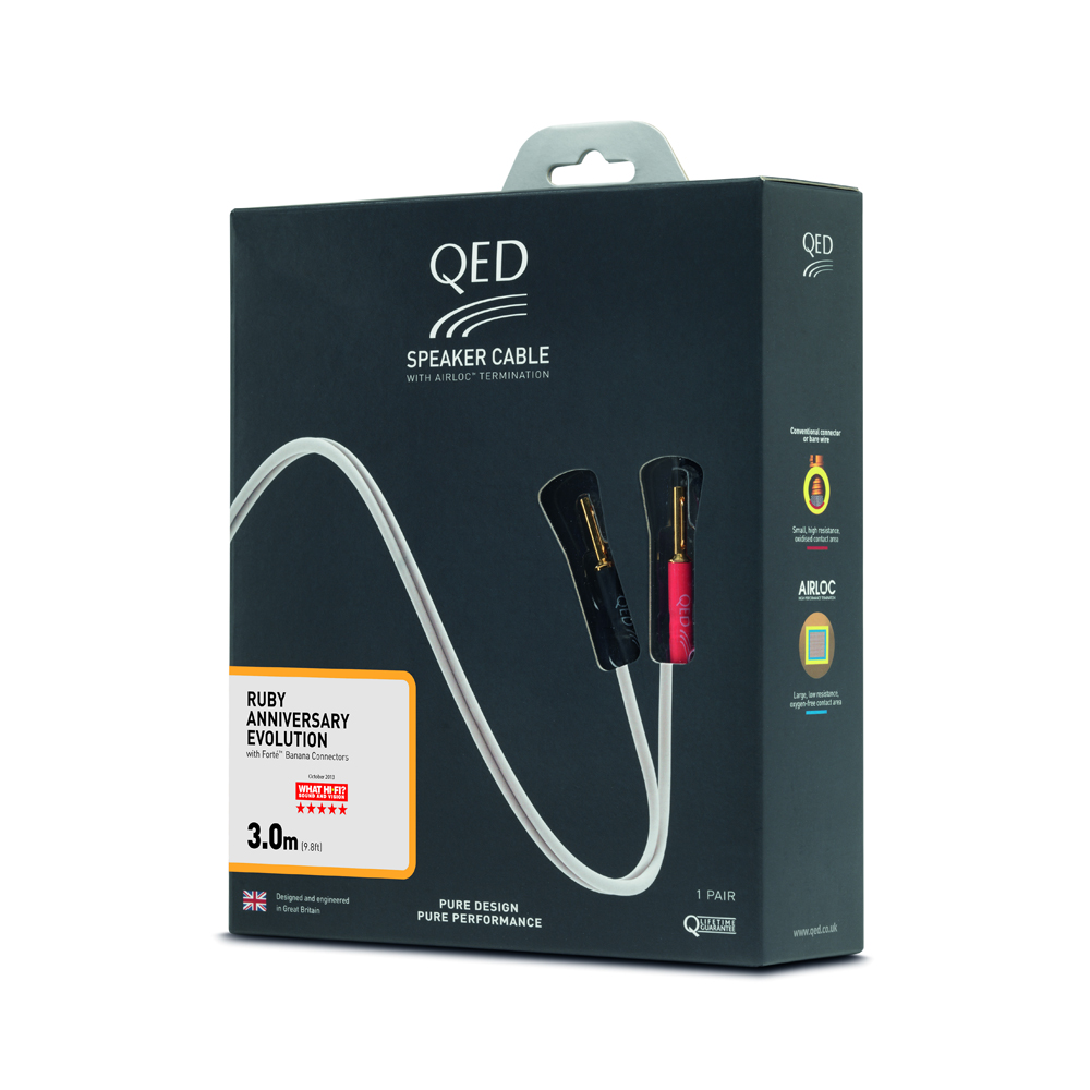 QED Ruby Anniversary#Terminated Speaker Cable