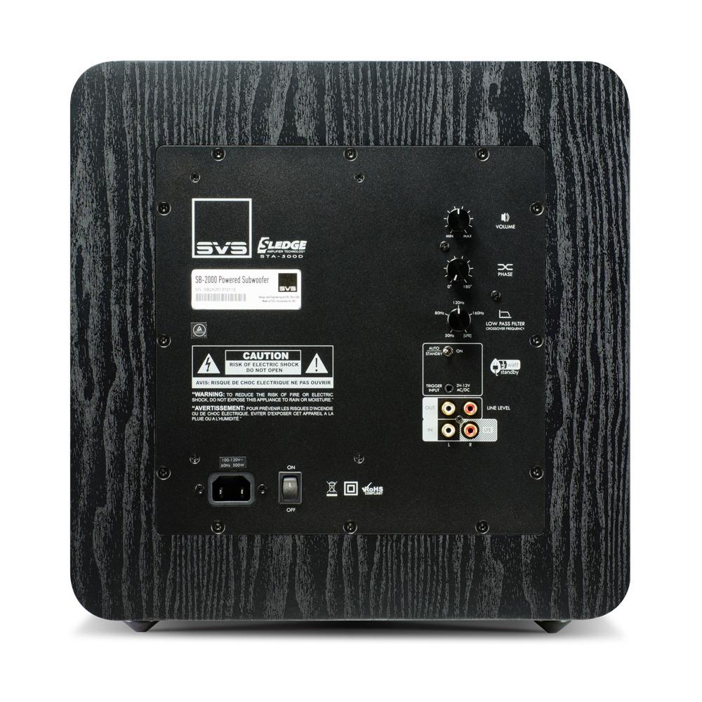 SVS SB-2000 (Black Ash) - Back