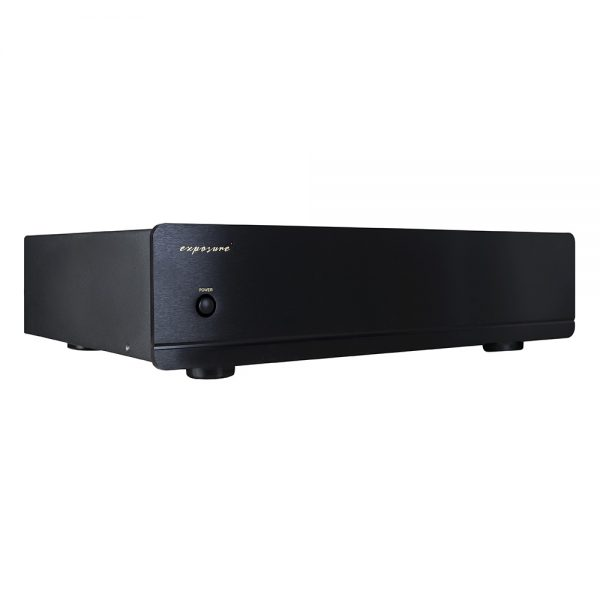 Exposure 3010S2D Stereo Power Amplifier (Black) - Angled