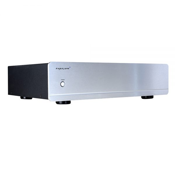 Exposure 3010S2D Stereo Power Amplifier (Titanium) - Angled