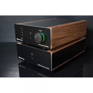 Nytech Audio- CP202 & CPA402 (Light Oak) - Angled