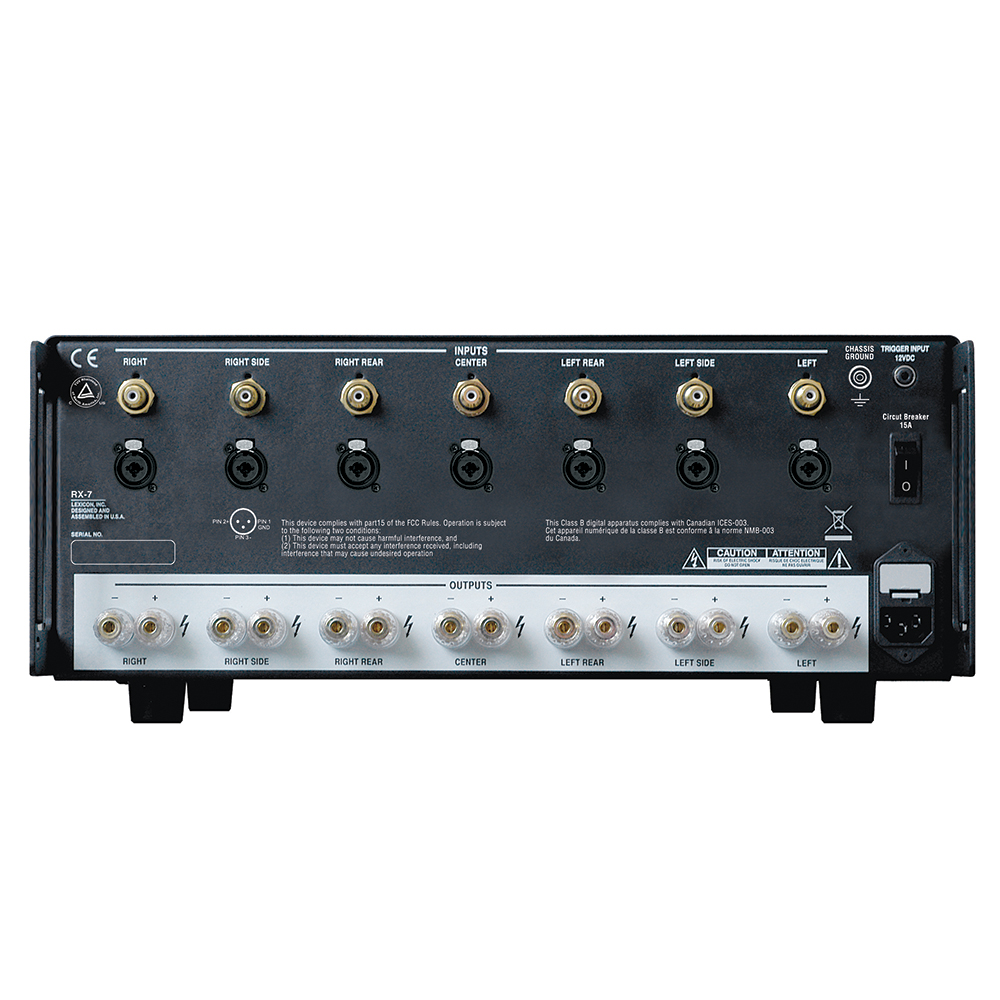 lexicon rx 7 7 channel av power amplifier high current norvett electronics. Black Bedroom Furniture Sets. Home Design Ideas
