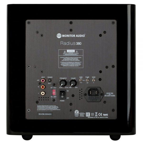 Monitor Audio Radius 380 (High Gloss Black) - Back