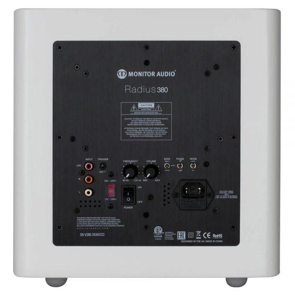 Monitor Audio Radius 380 (High Gloss White) - Back