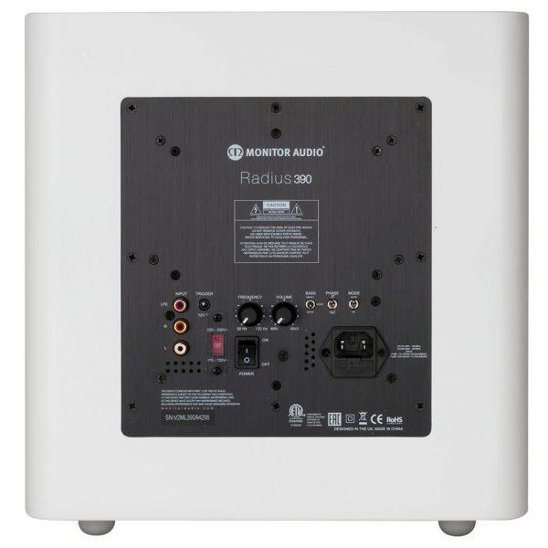Monitor Audio Radius 390 (High Gloss White) - Back