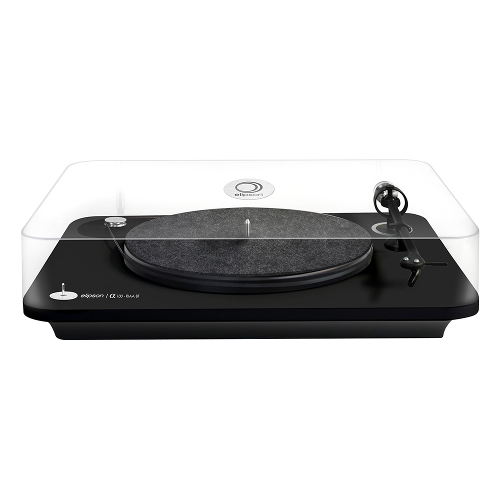 Elipson Alpha 100 RIAA BT (Black) - Front With Lid