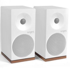 Tangent Spectrum X5 Speakers (White) - Angled