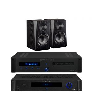 Emotiva TA-100 & ERC-3 & SVS Ultra Bookshelf (Black Ash) Package