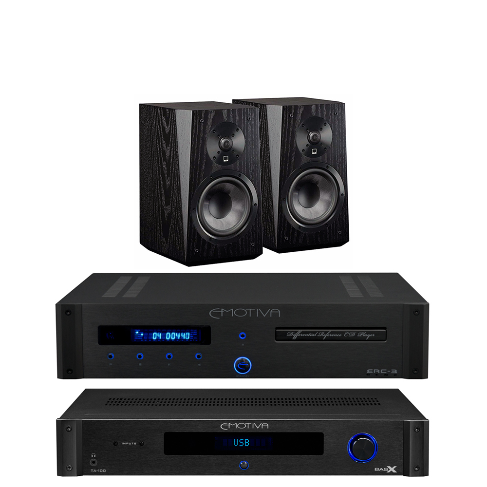 Emotiva TA 100 ERC 3 SVS Ultra Bookshelf Black Ash