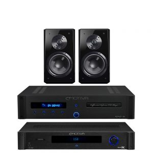 Emotiva TA-100 & ERC-3 & SVS Ultra Bookshelf (Gloss Black) Package