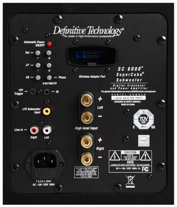 Definitive Technology SuperCube 6000 (Black) - Back