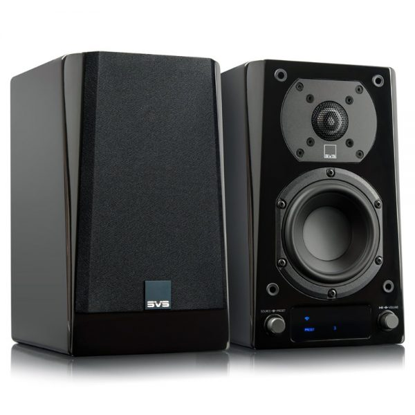 SVS Prime Wireless Speaker System (Angled - Partial Grille)