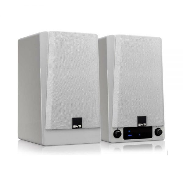 SVS Prime Wireless Speaker System (Gloss White) - Angled