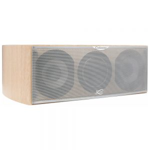 Cabasse Socoa MC170 (Oak) - Angled (With Grille)