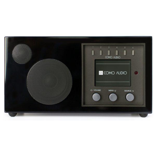 Como Audio Solo (Piano Black) - Angled