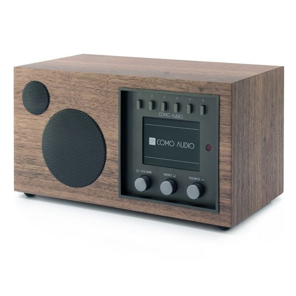 Como Audio Solo (Walnut & Black) - Angled