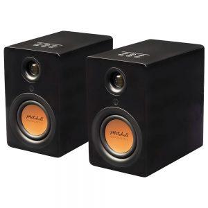 Mitchell Acoustics uStream One (Gloss Black) - Angled